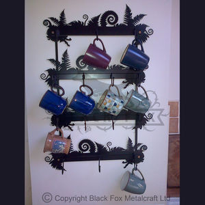 Wall Art Mug Rack - hooks, pegs & clips