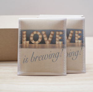 Lights Love Is Brewing Wedding Favour Pack Of 10 - edible favours