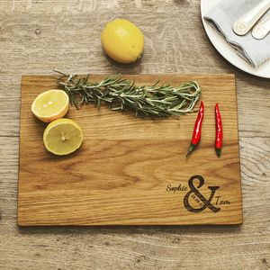 Ampersand Personalised Oak Chopping Board