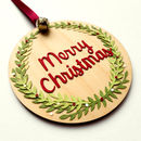'Merry Christmas' Tree Pendant