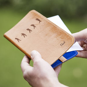 Personalised Leather Golf Scorecard Holder - mens
