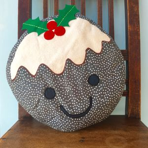 Christmas Pudding Cushion - christmas decorations
