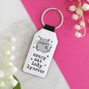 Crazy Cat Lady Personalised Keyring