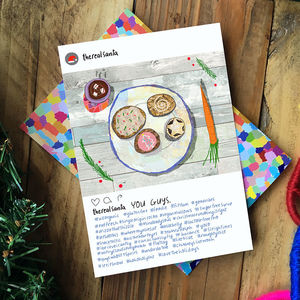 Instagram Santa Card - cards