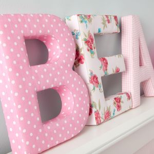 Fabric Letters - children's room accessories