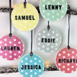 Colour Pop Personalised Star Christmas Bauble