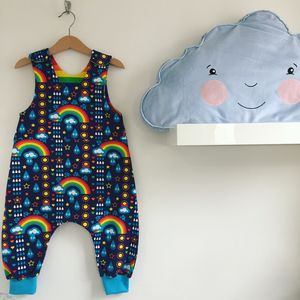 Rainbow Fan Dungarees - clothing