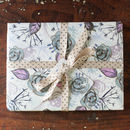 Winter Floral Wedding Gift Wrapping Paper