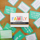 Personalised Family Gift Challenges Game