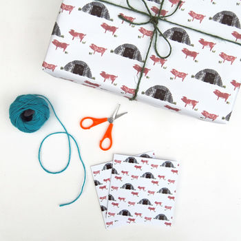 Pig Sty Wrapping Paper And Card Set