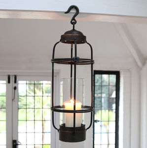 Iron Frame Hanging Lantern - lights & lanterns