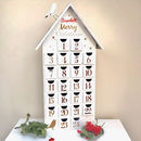 Personalised Tall White Advent House