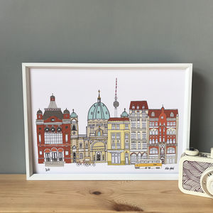 Berlin Cityscape Print - maps & locations
