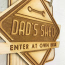 Personalised Retro Style Dad's Sign