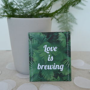 Forest Fern Tea Wedding Favour - edible favours