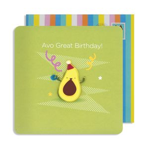 Birthday Avocado Jelly Magnet Cards