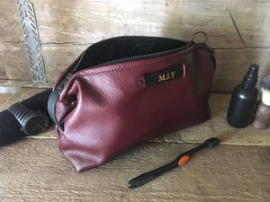 Personalised Burgundy Toiletry Bag - sale