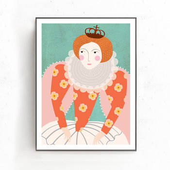 Royal Girl Print
