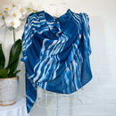 'Blue Lines' Large Luxury Scarf Wrap