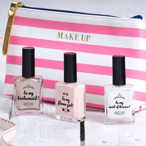 Personalised Wedding Party Nail Polish - more
