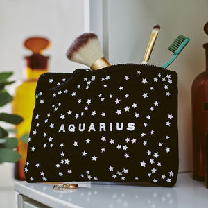 Zodiac Embroidered Pouch