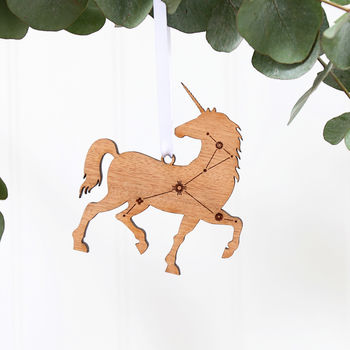 Unicorn Constellation Wooden Christmas Tree Decoration