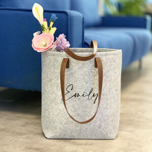 Personalised Felt Tote Bag
