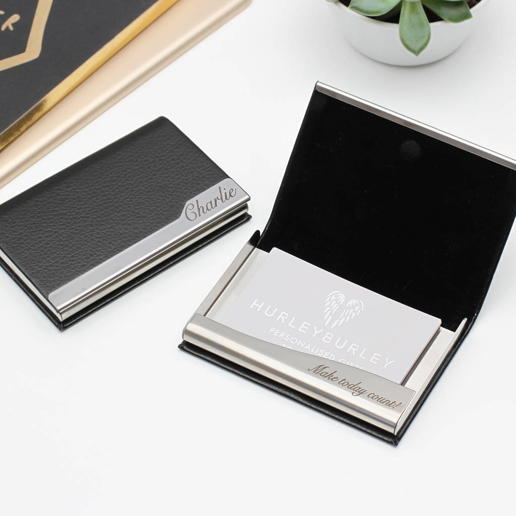 Personalised Business Card Holder By Hurleyburley Man