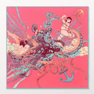 Kraken Girl Statement Ladies Scarf - scarves