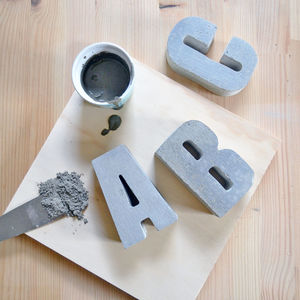 Concrete Alphabet Letters - home accessories