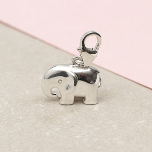 Sterling Silver Clip On Elephant Charm