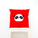 Wise Panda Cotton Cushion Cover