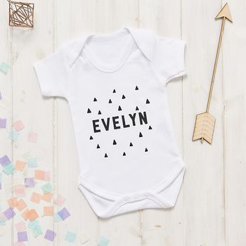 Personalised Scandi Triangle Baby Vest