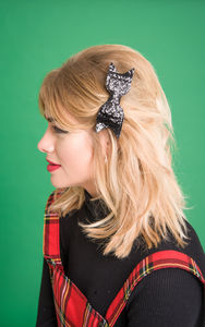Small Glitter Hair Bow