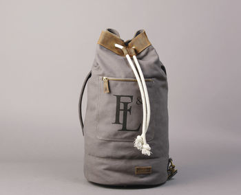 Duffel Bag With Added Leather Trim