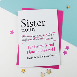 Preview Sister Birthday Card Personalised Jpg 300x300 Greeting Cards Pictures Funny