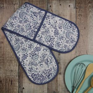 Folk Design Oven Gloves - kitchen