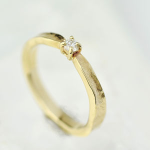 Thumbelina Solid Gold Diamond Engagement Ring