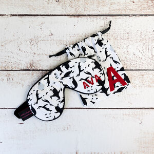 Personalised Eye Mask Penguin Print