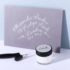 White Calligraphy Ink - desk accessories