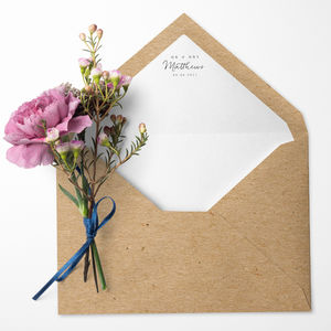 Pack Of 10 Personalised Lined Envelopes - card crafting