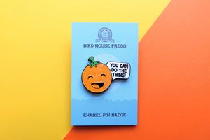 Orange Of Optimism Enamel Pin Positivity Pin Badge