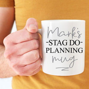 Groom's Personalised Stag Do Planning Mug