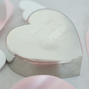 Engraved Heart Trinket Box - bedroom