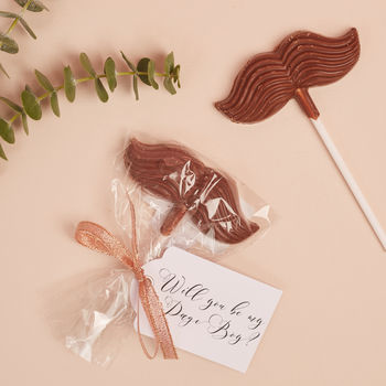 Will You Be My Page Boy Chocolate Lollipop Gift