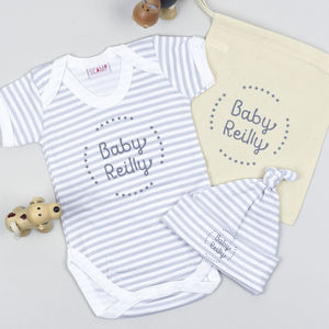 Personalised New Baby Gift Set - babies' hats