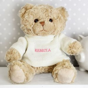 Personalised Girl Teddy Bear - soft toys & dolls