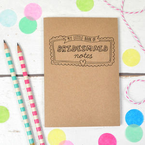 My Little Book Of Bridesmaid Notes - planners & records