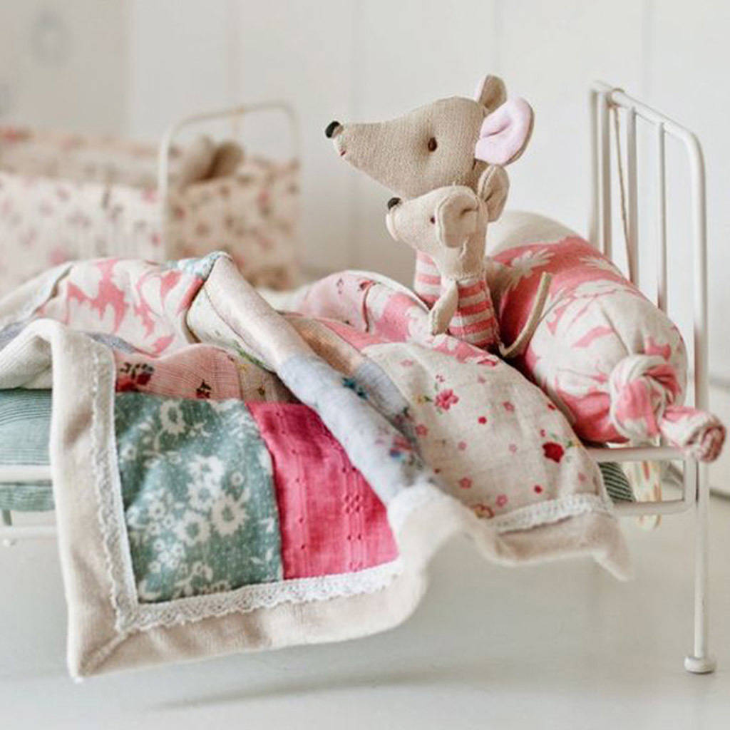 Maileg Dolls Mini Metal Bed By Karrie Barron