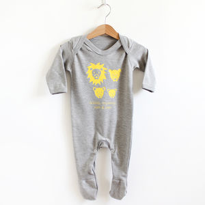 Lion Family, Personalised Romper